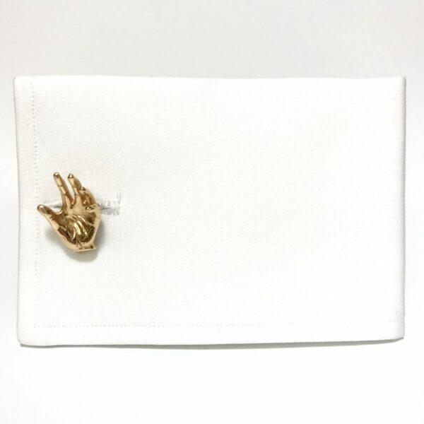 14K Gold Hand Cufflinks