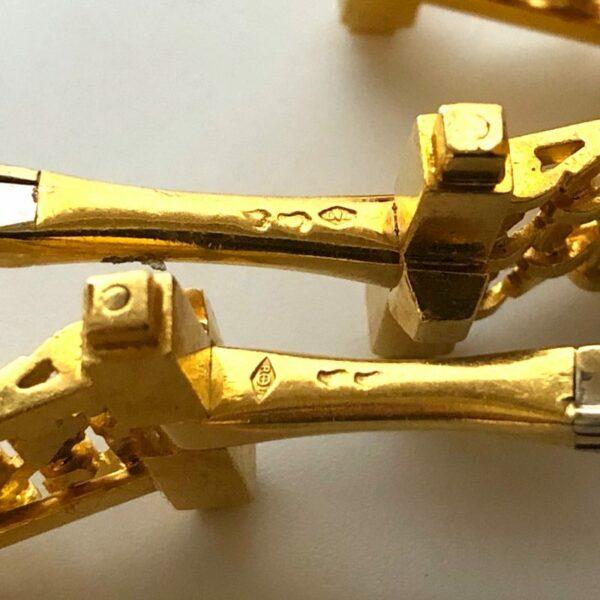18K Gold Chain Wrap Cufflinks