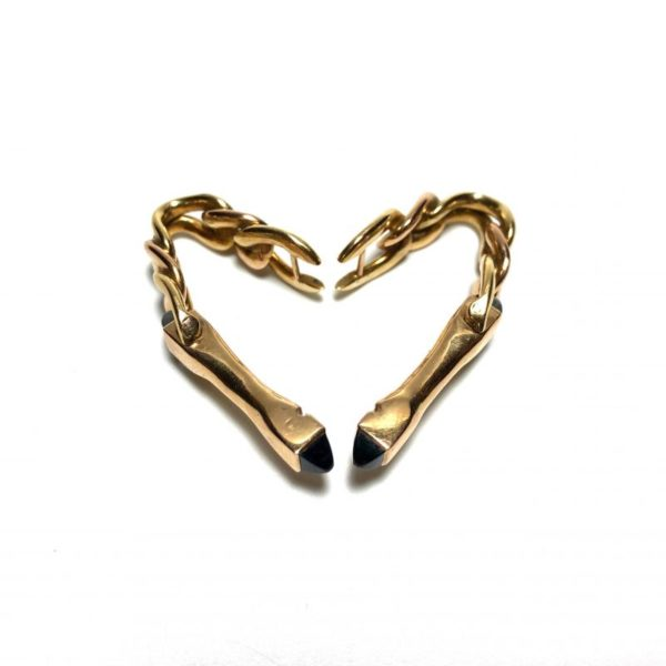 18K Gold and Sapphire Wrap Cufflinks