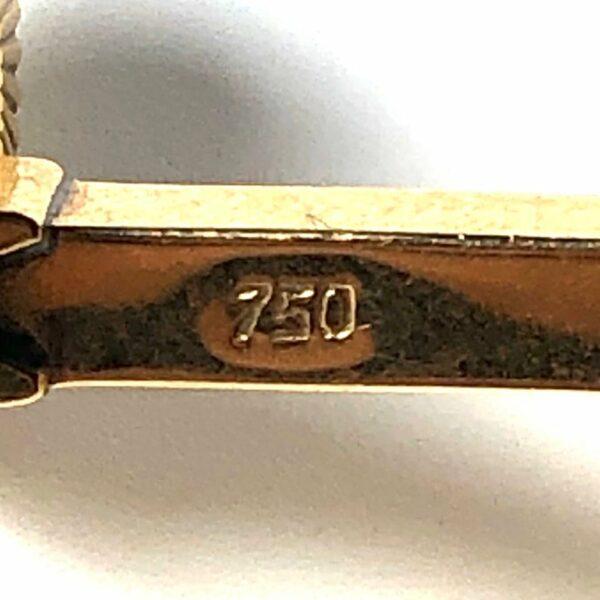 18k Gold Stirrup Cufflinks