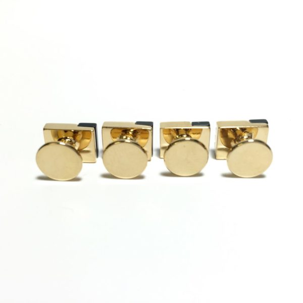 4 Gold Filled and Onyx Tuxedo Shirt Studs