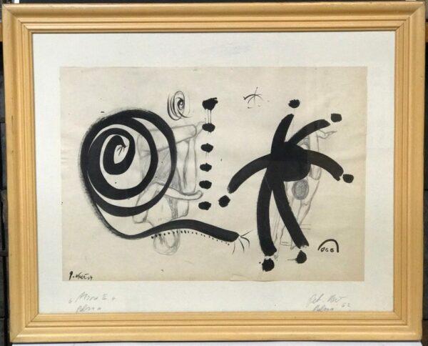 "Peter Keil ""Homage To My Friend Miro"" Acrylic Painting"