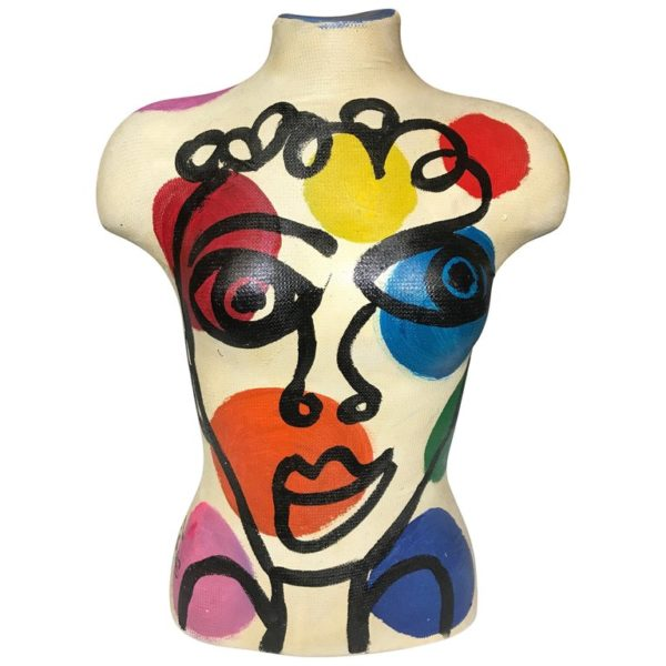 Abstract OIl Painted Torso Mannequin Peter Keil