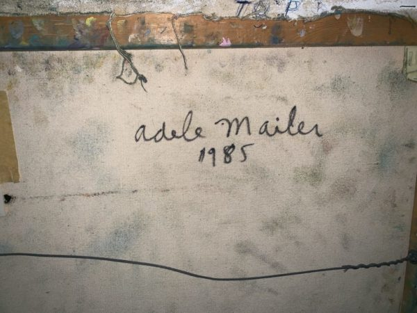 Adele Mailer Untitled Oil on Canvas 1985