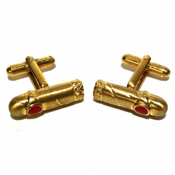 Cigar Tuxedo Gold Cufflinks