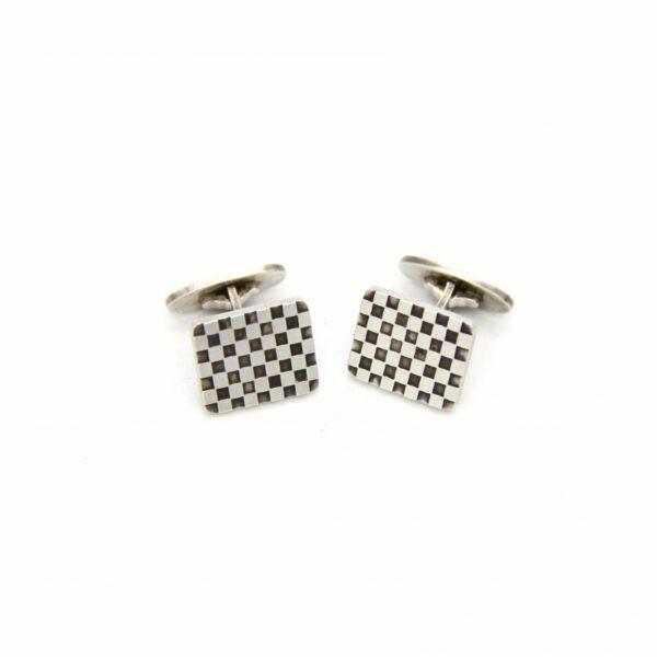 Georg Jensen Sterling Checkerboard Cufflinks No. 113