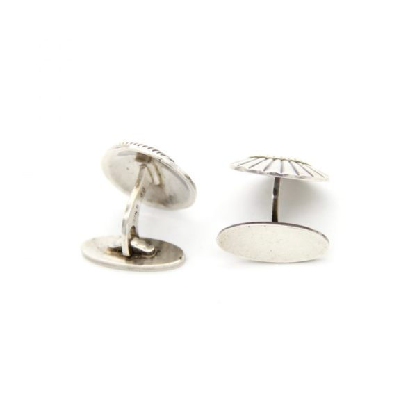 Georg Jensen Sterling Seashell Cufflinks-1
