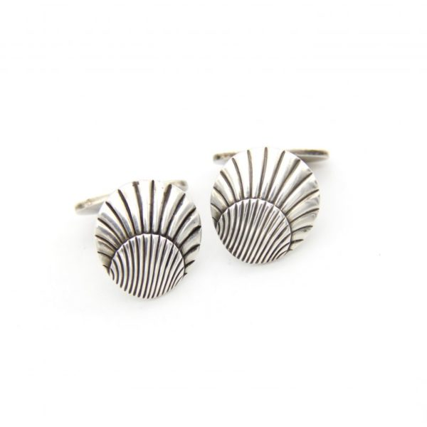 Georg Jensen Sterling Seashell Cufflinks #66