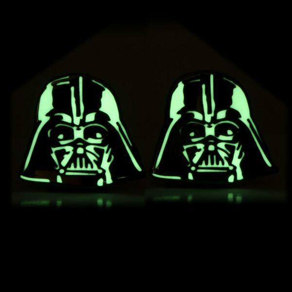 Glow Darth Vader Helmet Cufflinks 2