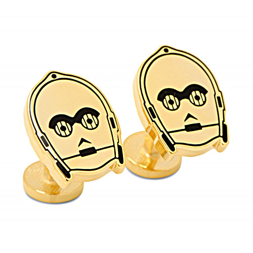 Gold Plated Star Wars C3PO Cufflinks1