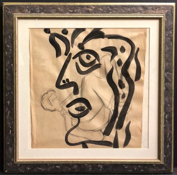"Peter Keil ""Homage to Miro"" Oil Painting"