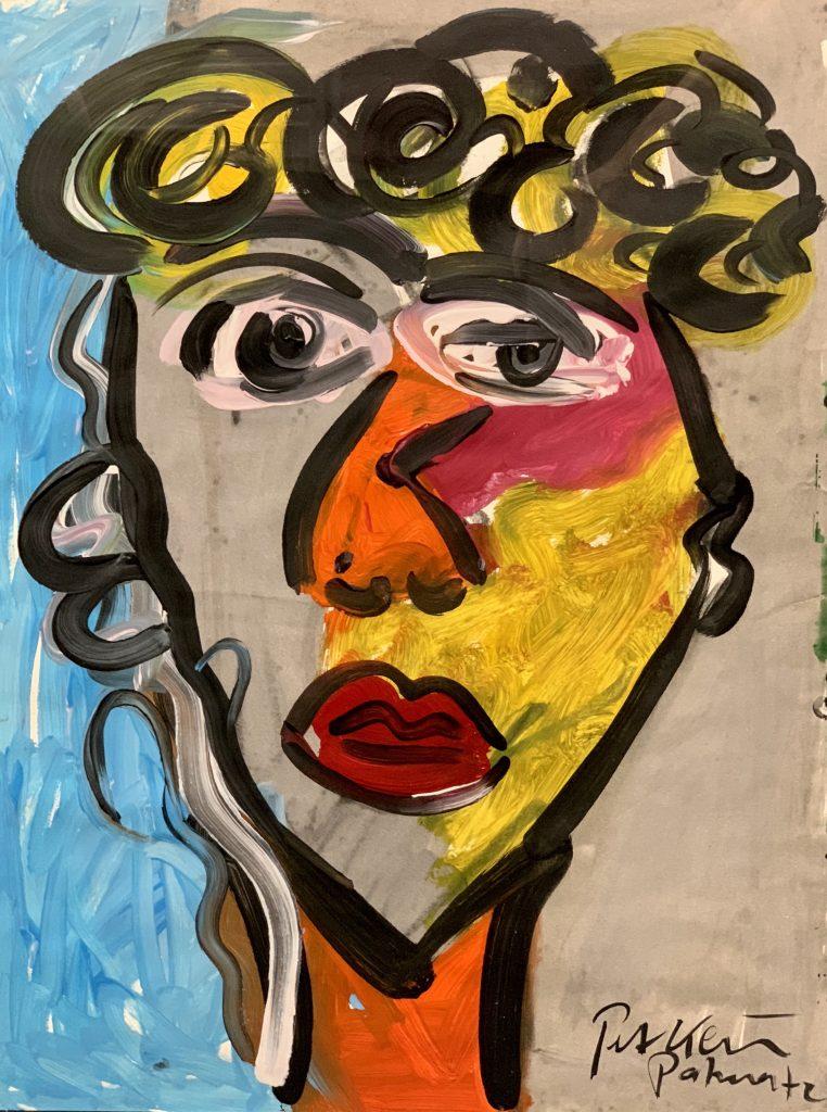 Peter Keil Self Portrait Oil Painting