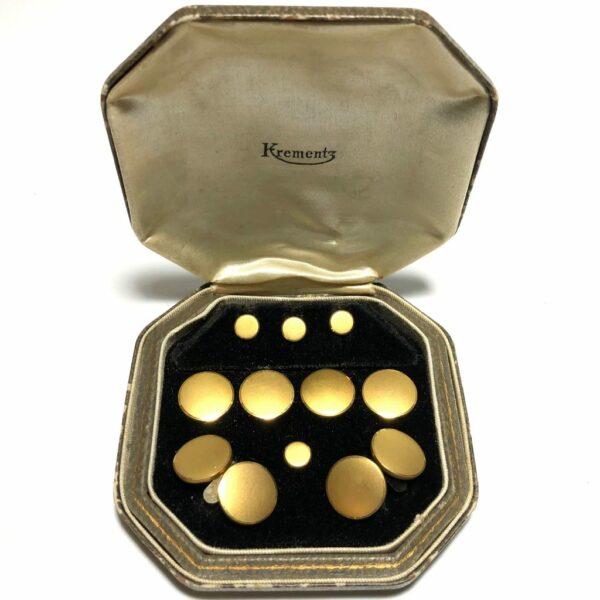 Krementz Gold Tuxedo Stud Set