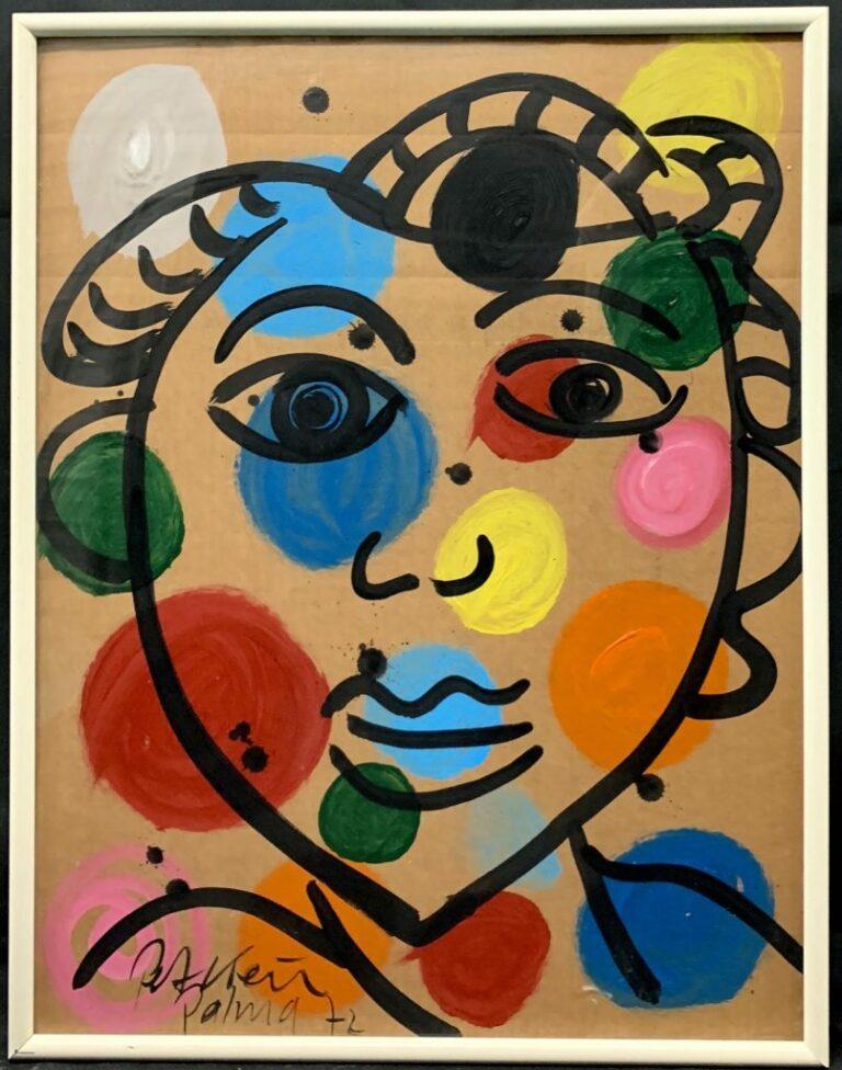 """Peter Keil """"Femme"""" Oil Painting 72"""