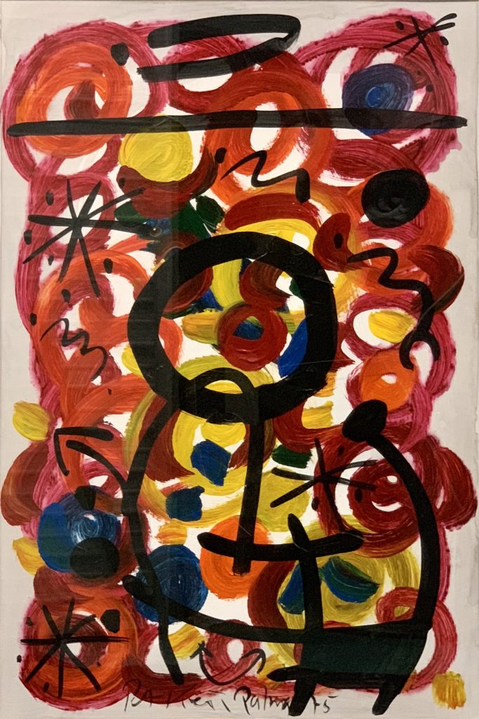 """Peter Keil """"Abstract Composition"""" Oil Painting 1975"""