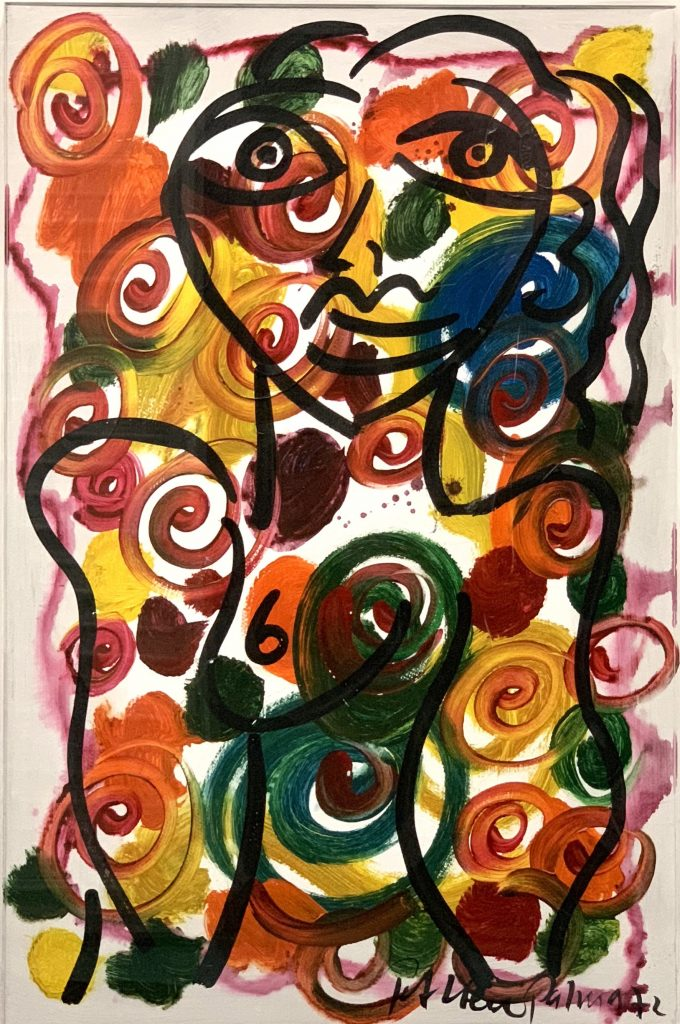 """Peter Keil """"Abstract Composition"""" Oil Painting 1972"""