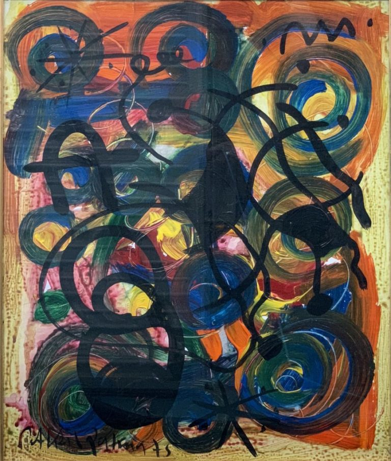 """Peter Keil """"Abstract Composition"""" Oil Painting 75"""