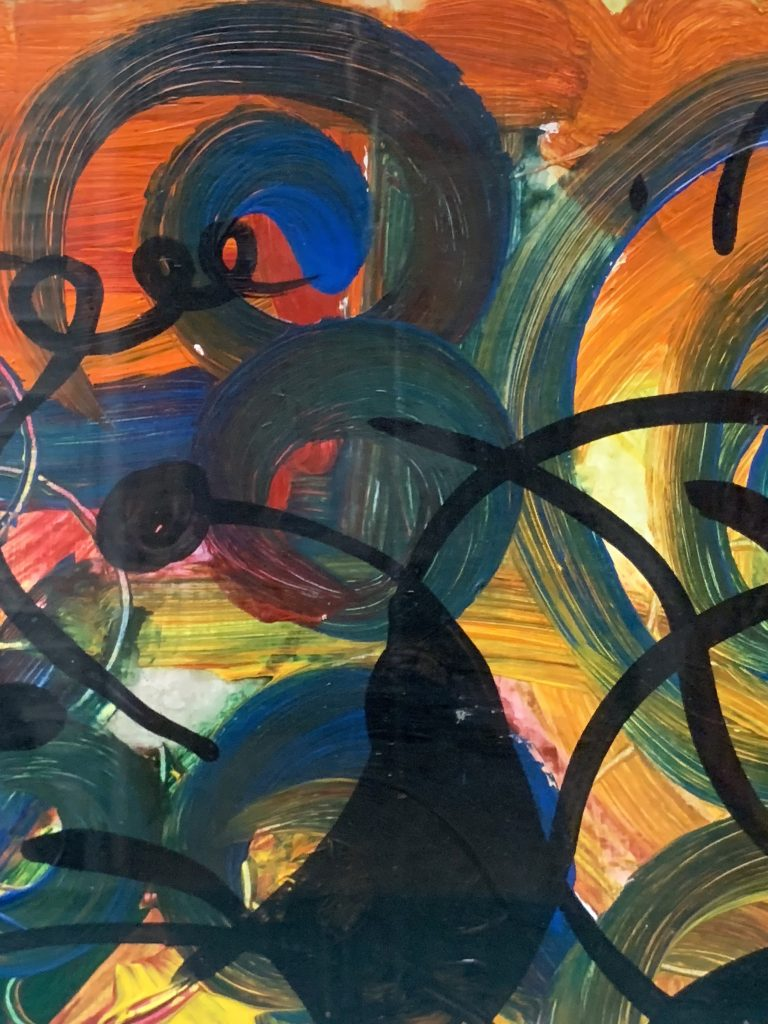 """Peter Keil """"Abstract Composition"""" Oil Painting"""
