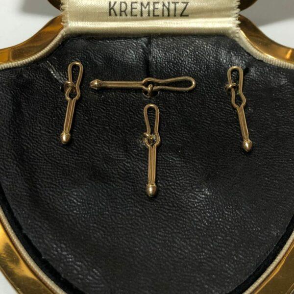 Krementz Gold and Platinum Enamel Stud Set