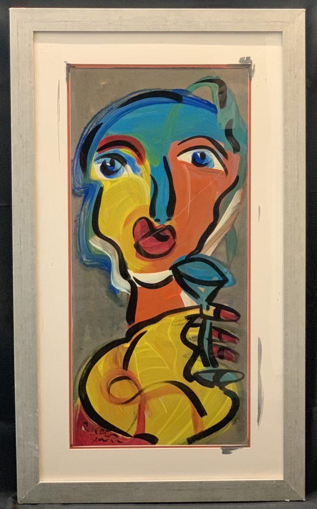 """Peter Keil """"The Beatles In Hamburg"""" Oil Painting"""