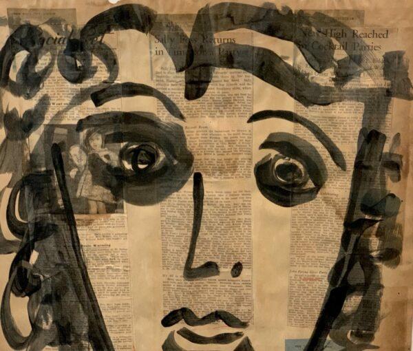 "Peter Keil ""Femme"" Acrylic Painting"