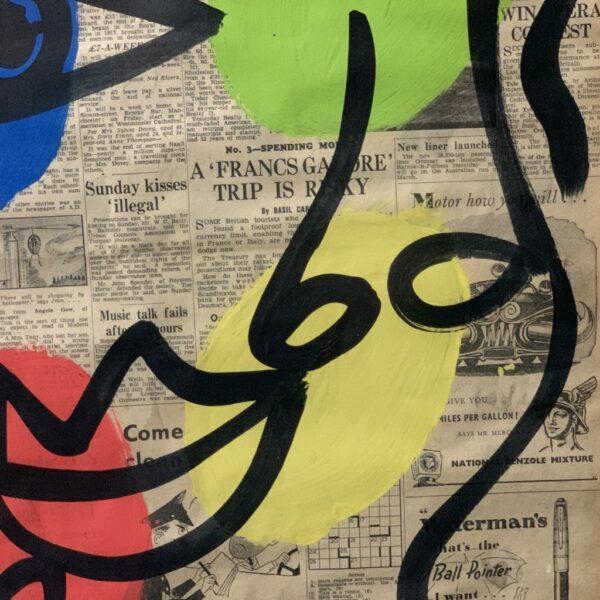 """Peter Keil """"Matador"""" Acrylic Painting"""