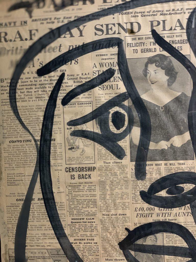 """Peter Keil """"Studio Miro 59"""" Acrylic Painting"""