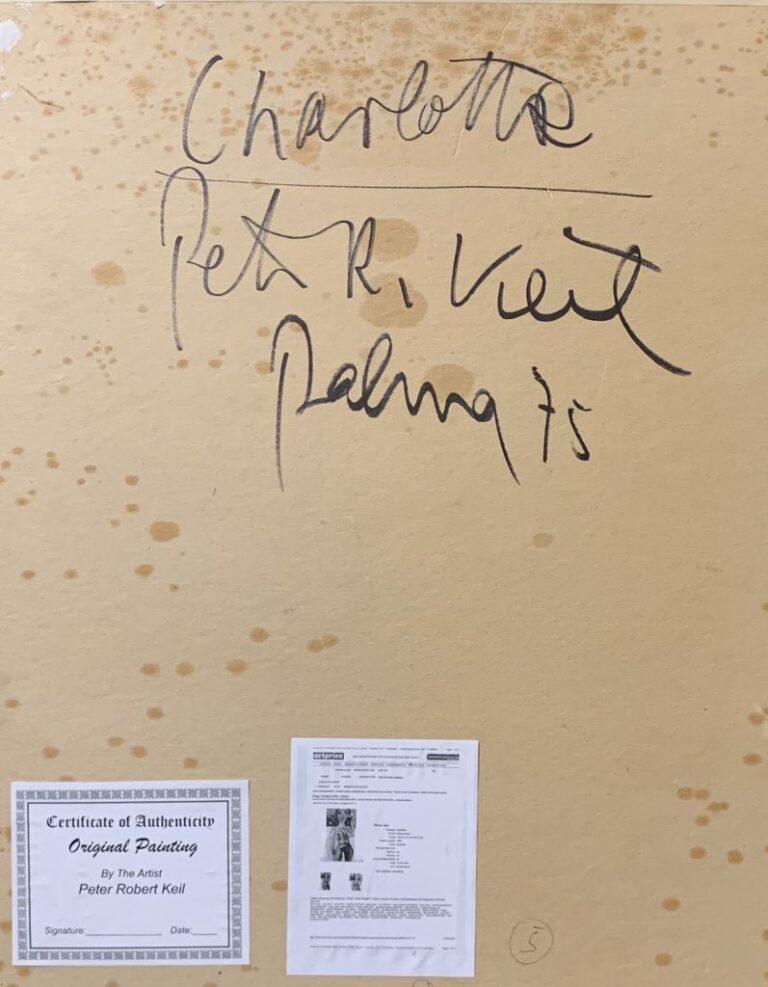 "Peter Keil ""Charlotte"" Oil Painting Palma 75"