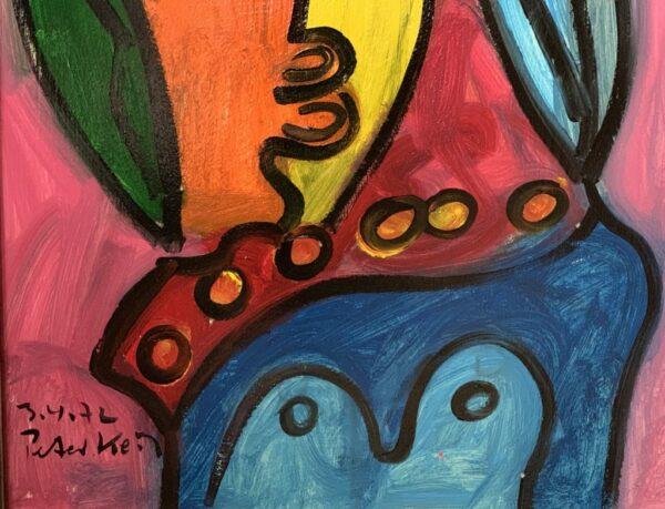"""Peter Keil """"Junge Frau"""" Oil Painting Paris 72"""