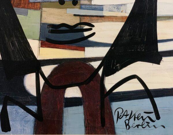 """Peter Keil """"Junge Frau"""" Oil Painting"""