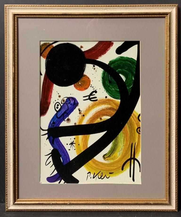 Peter Keil Joan Miro Oil Painting