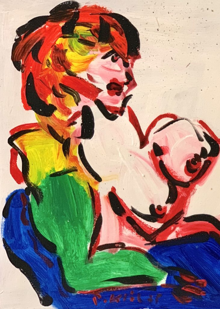 Peter Keil Nude Oil Expressionist Painting Berlin 75