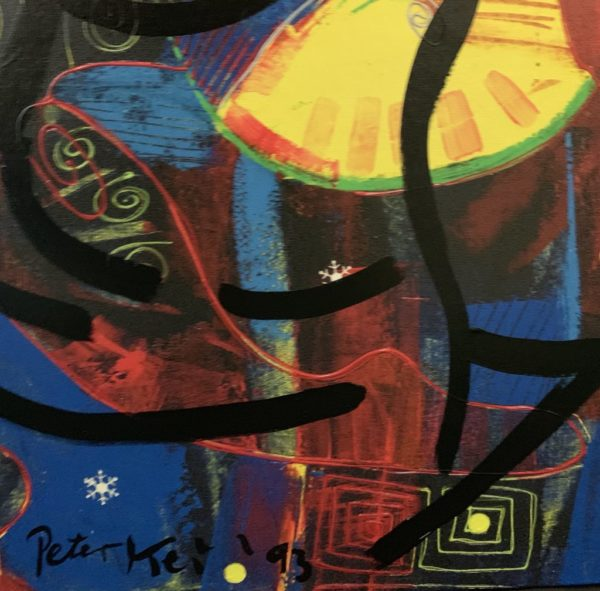"""Peter Keil """"Abstract Composition"""" Oil Painting Berlin 93"""