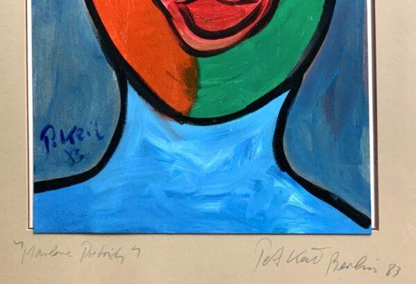 """Peter Keil """"Marlene Dietrich"""" Oil Painting 83"""