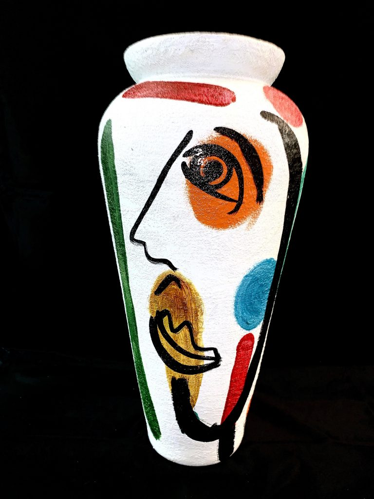 Peter Keil Abstract Oil Painted Vase