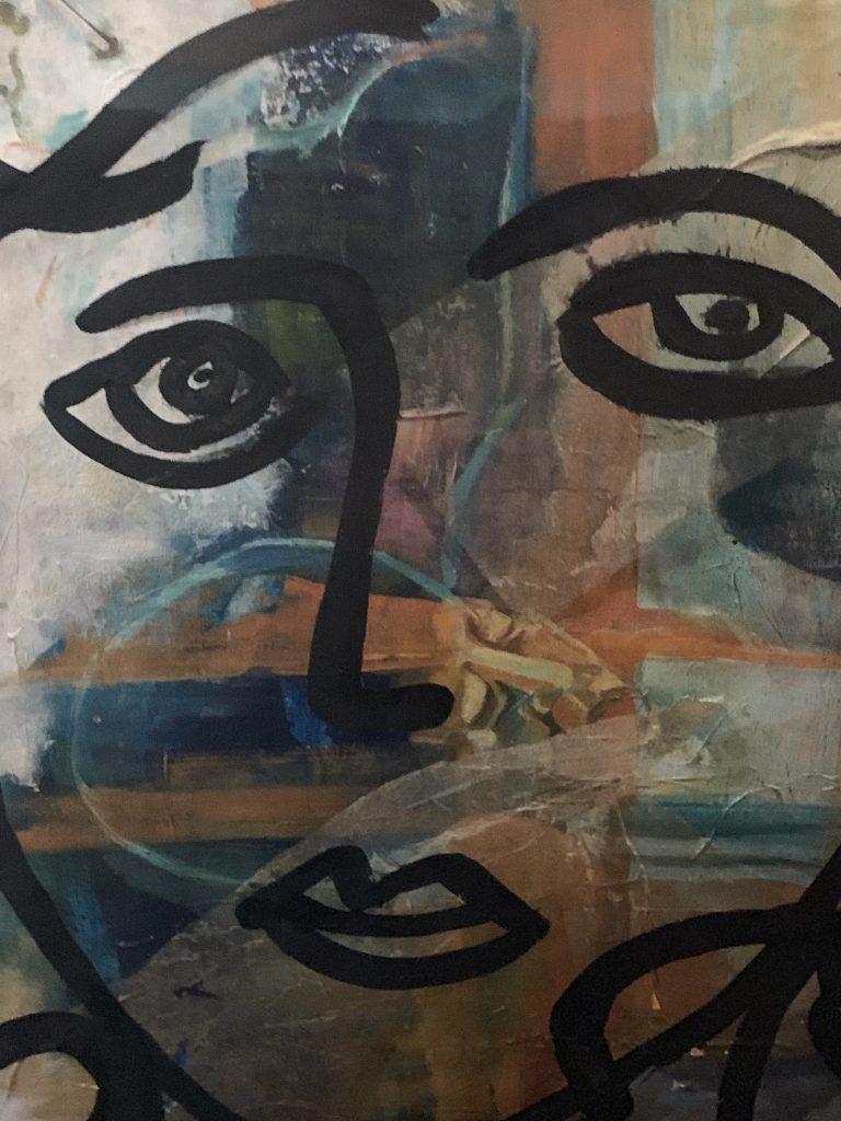 """Peter Keil """"Marlene Dietrich"""" Oil Painting Paris 75"""