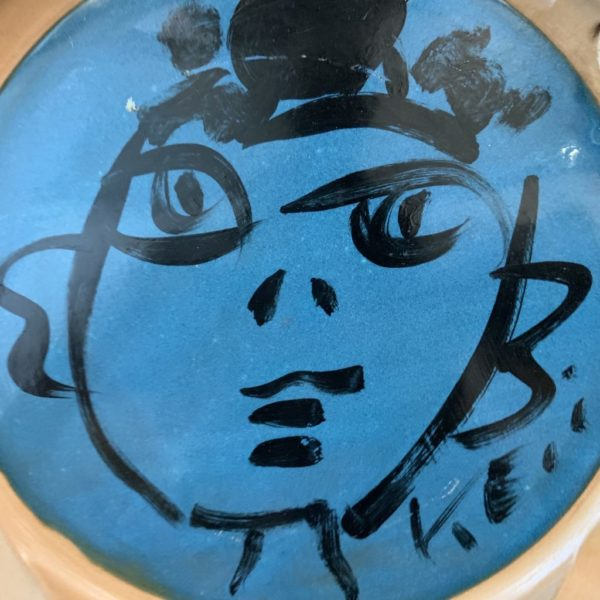 Peter Keil Abstract Oil Painted Plate