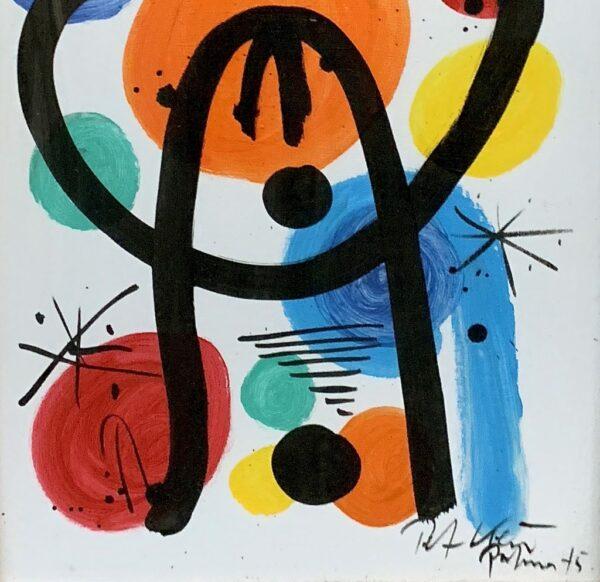 "Peter Keil ""Sun Moon Stars 75"" Oil Painting"