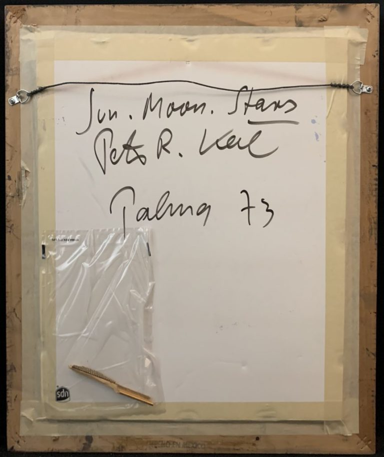 "Peter Keil ""Sun Moon Stars"" Oil Painting 73"