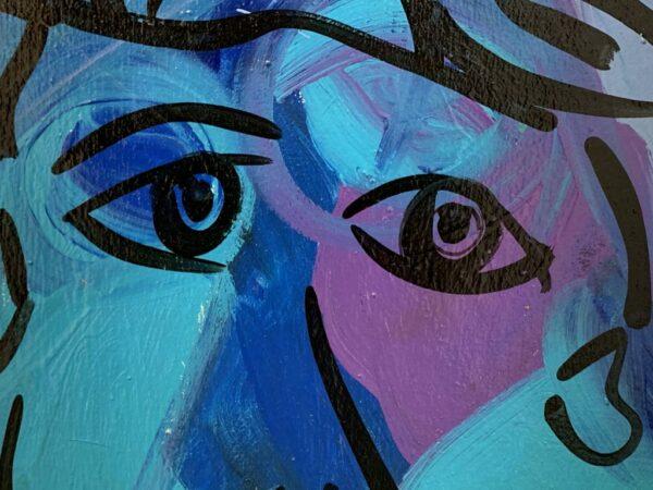 "Peter Keil ""The Blue Matador"" Oil Painting"
