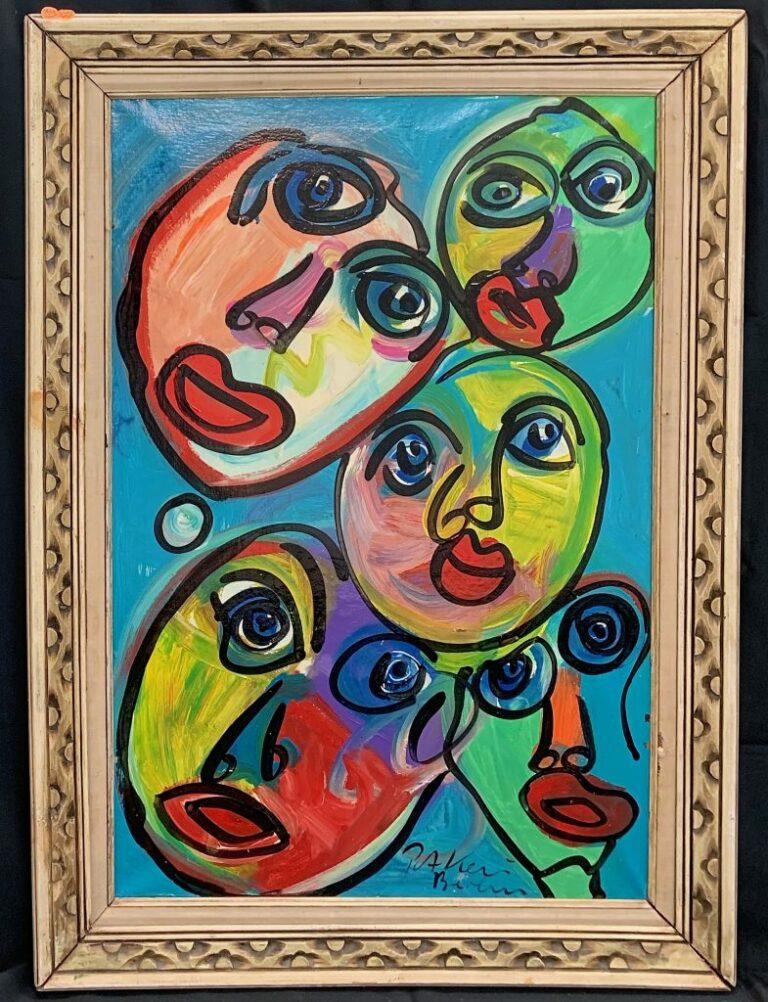 """Peter Keil """"The Beatles"""" Oil Painting 1"""