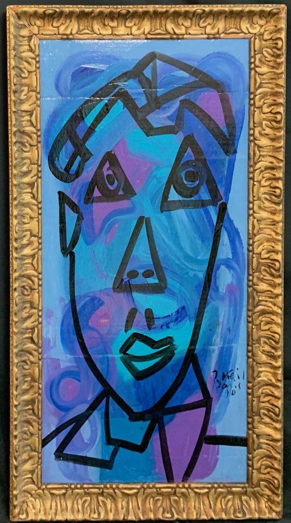 "Peter Keil ""Blue Period"" Oil Painting"