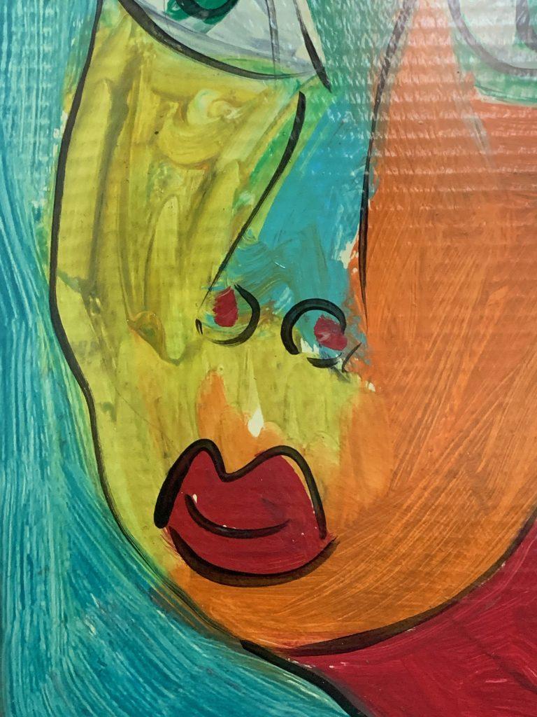 """Peter Keil """"Andy Warhol"""" Oil Painting"""