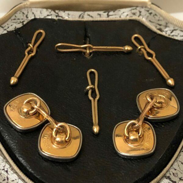 Krementz Gold and Abalone Stud Set 6C