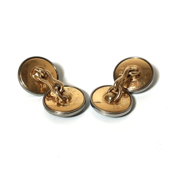 Krementz Gold and Abalone Stud Set 6A