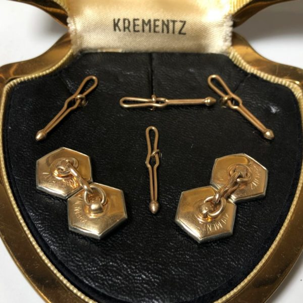 Krementz Gold and Mother Of Pearl Stud Set 4B