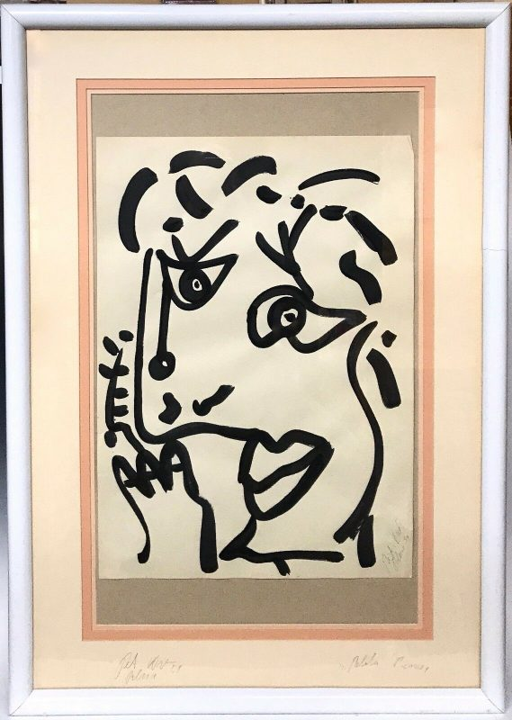 """Neo Expressionism """"Pablo Picasso"""" Acrylic Painting by Peter Keil Studio Miro"""
