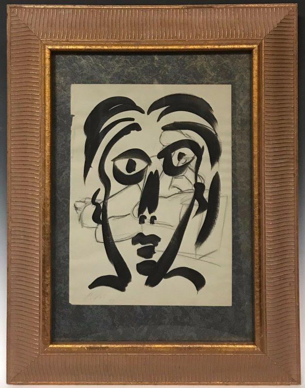 "Neo Expressionism Abstract ""Studio Miro"" Acrylic Painting Peter Keil Paris 1959"