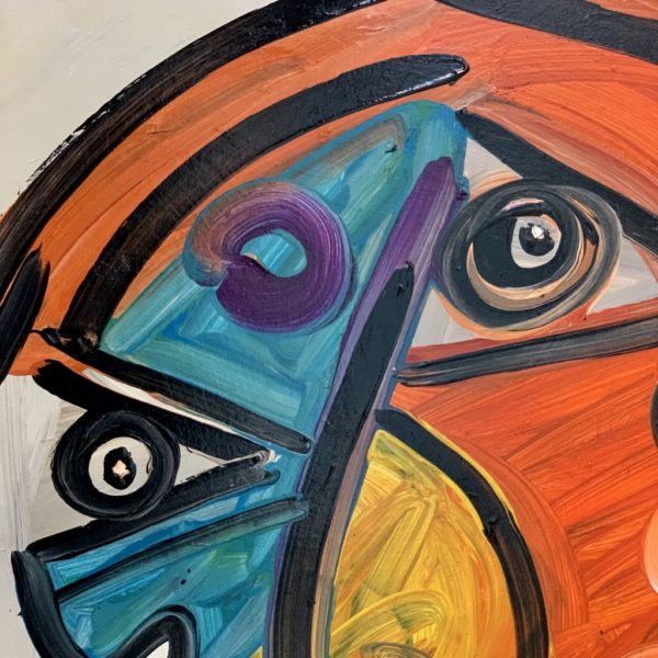 "Peter Keil ""Matador"" Oil Painting Berlin 1985"