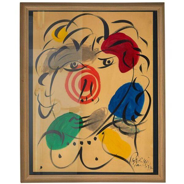 """Peter Keil """"Mephisto"""" Portrait Painting"""